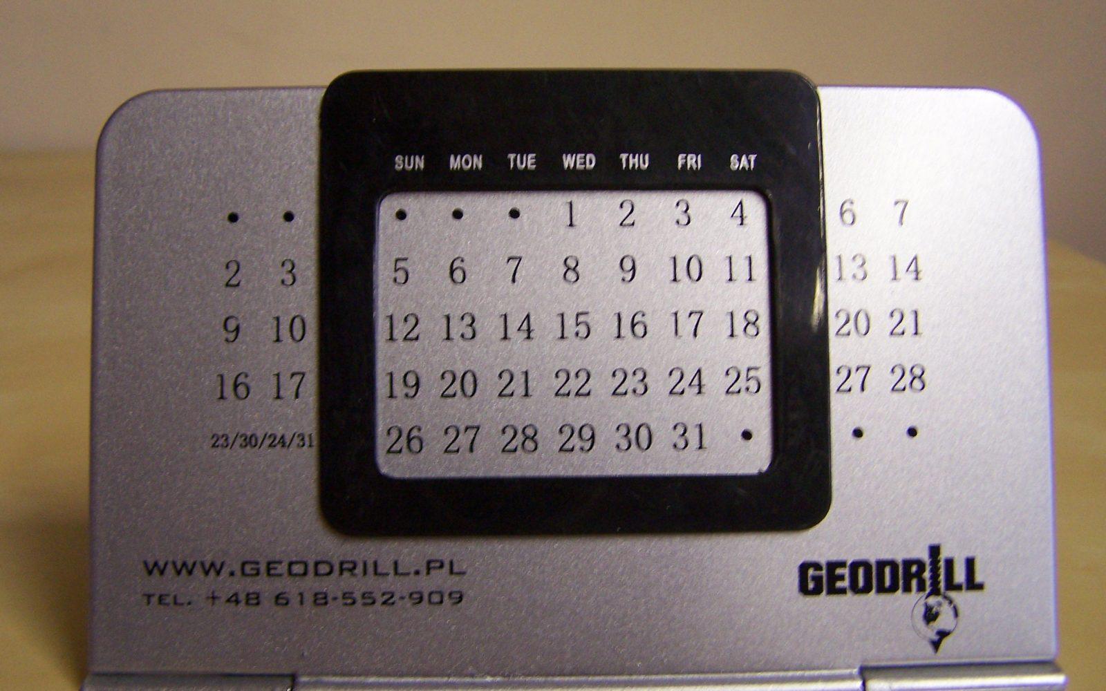 kalendarz reklamowy biurkowy