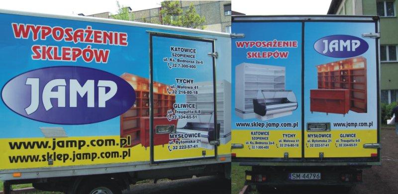 Reklama na ciężarówce