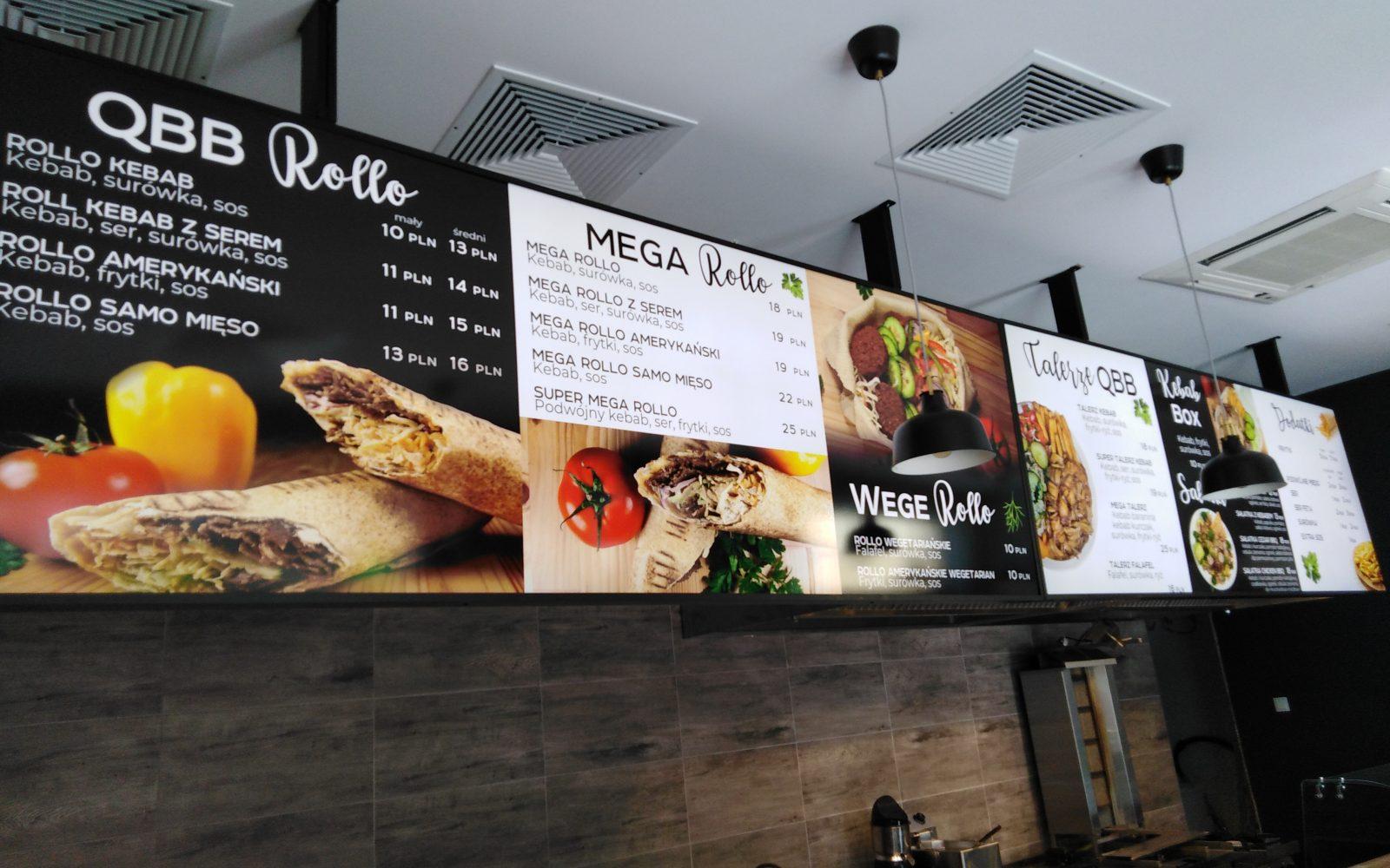kaseton podświetlany menu