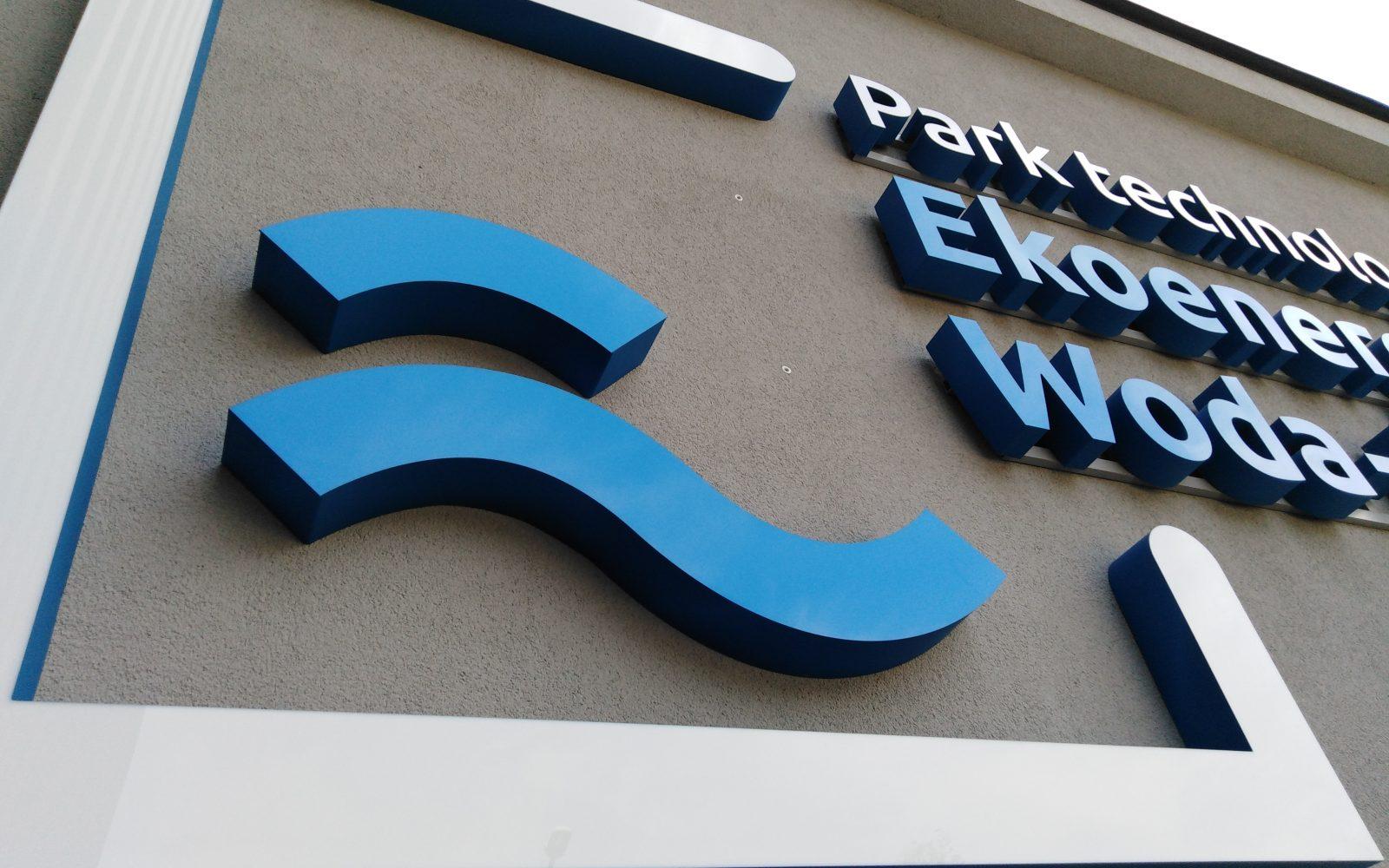 Logo przestrzenne podświetlane